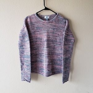 Girls Old Navy Pink & Gray Knit Sweater